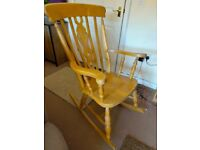 Rocking Chair Beech/Pine Solid Wood