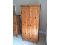 PINE Wardrobe, 7 Drawer Chest, Double Bed Frame. Used, in EXCELLENT condition. COLLECTION ONLY