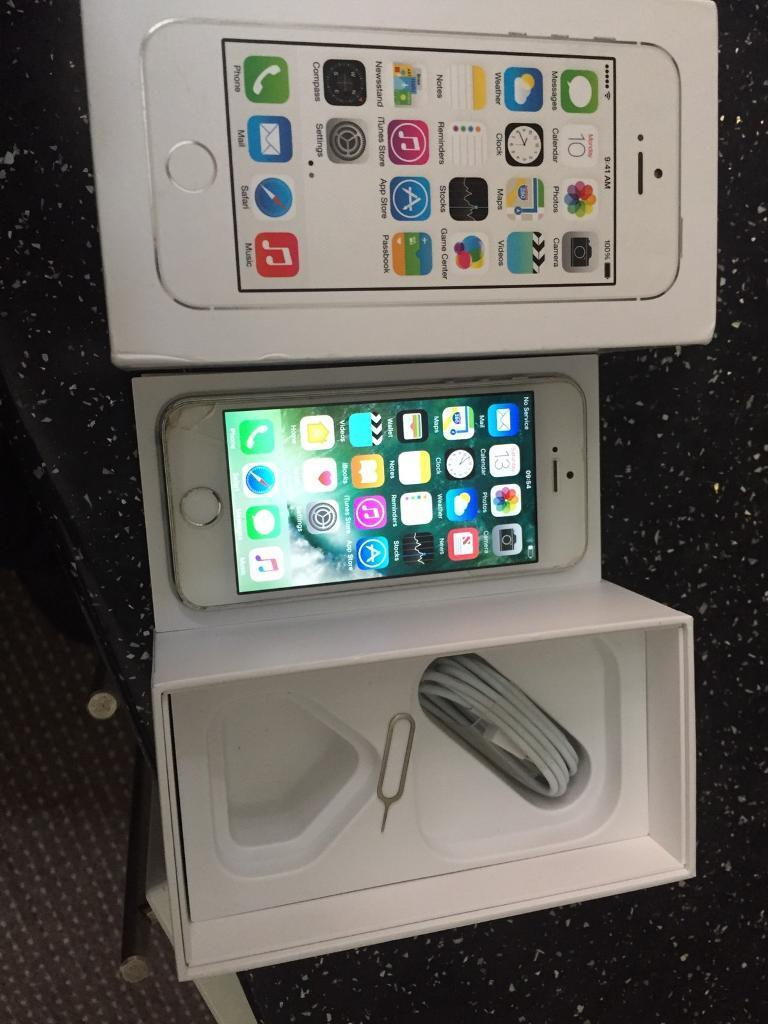 Cheap iPhone 5s smartphone or swap for samsungin Handsworth, West MidlandsGumtree - iPhone 5s16gbOn Vodafone network Has slight damage to bottom left of screen as shown in pictures Comes with box pin USB cable and the box
