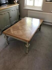 Gloucester coffee table with parquet top rrp £535