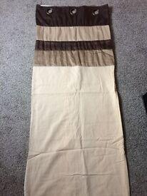 Brown & beige curtains