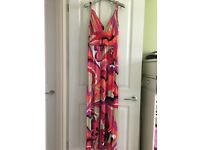 Long multicoloured Julien MacDonald dress Size 10