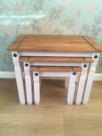 Pine nest of tables