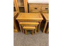 JB Global solid oak nest of tables * free furniture delivery *