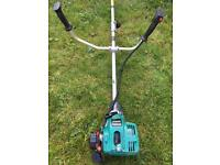 Petrol strimmer brush cutter with harness