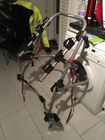 Bike rack with lighting board