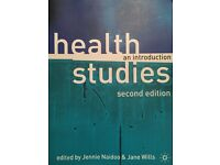 University book for sale health studies an introduction