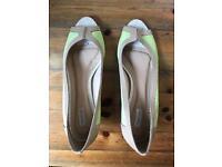 Martinez Lime/Nude Peep Toe Shoes