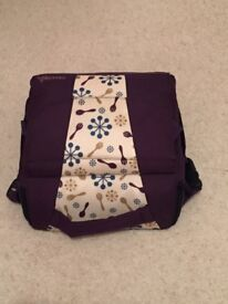 Munchkin purple travel booster seat