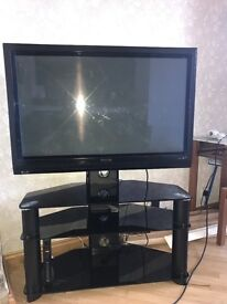 Philips 42inch HD ready TV with glass stand