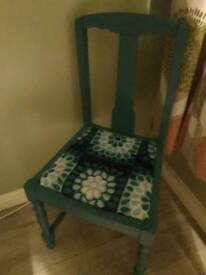 Turquoise/ blue chair