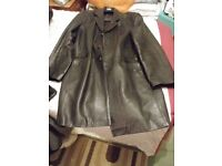 Mens leather jacket XXL