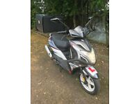 SINNIS HARRIER 125 with Helmet, PIZZA BOX and BAG, Oxford Lock, And Waterproof COVER