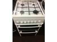 White beko 50cm gas cooker grill & double ovens good condition with guarantee