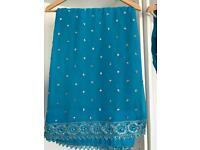 Blue designer Indian bollywood sari