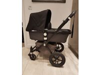 Bugaboo Cam 2 black/grey with bugaboo bag and BRAND NEW CAR SEAT