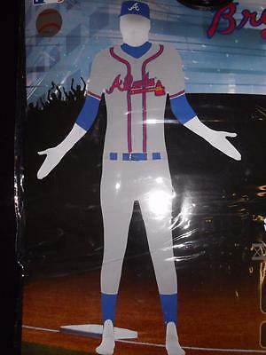 Neu Atlanta Braves Erwachsene Osfm Einheitsgröße Schutzhülle Anzug Kostüm (Brave Kostüme Erwachsene)