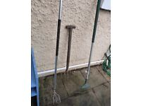 Old Garden Tools (Leaves/ Grass Rake, Fork and Tool to break up clumps) FREE