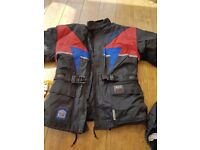 Motor bike jacket plus trouses