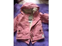 Brand new Baby girls Pink Next winter coat 3-6 months