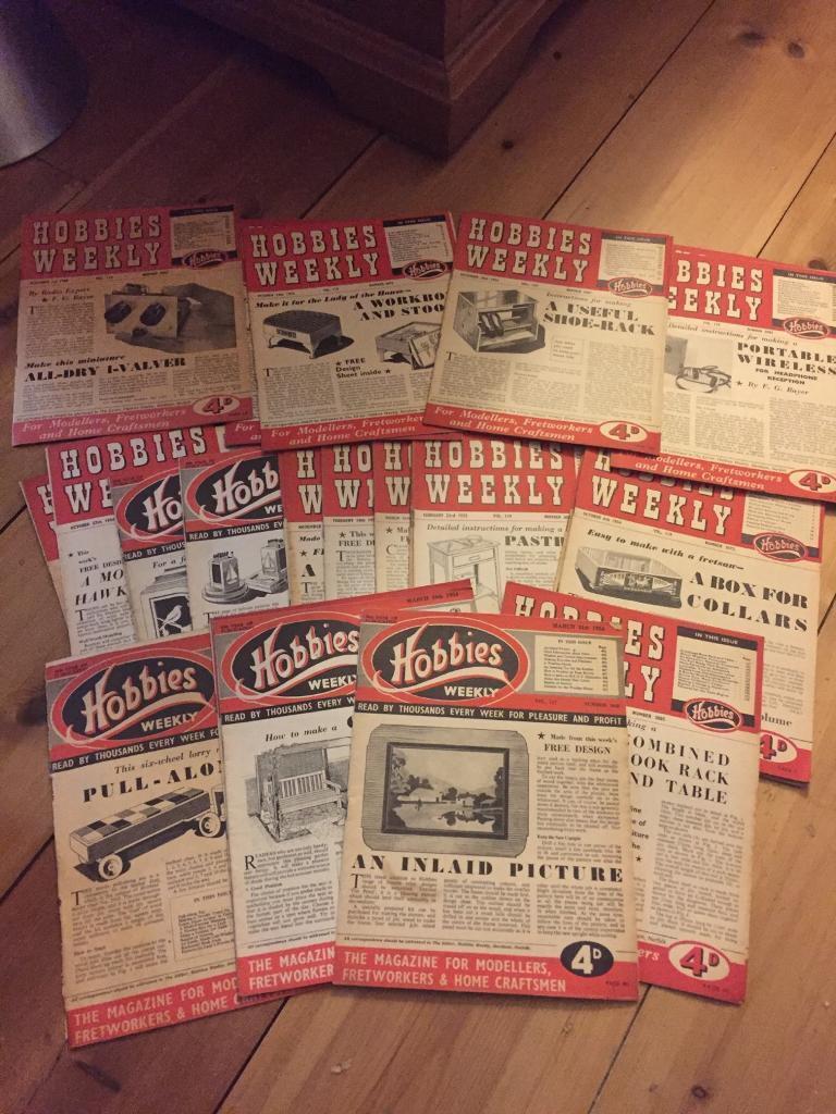 Vintage 1950's Hobbies magazines