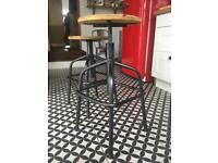 2 industrial style bar/ kitchen stools