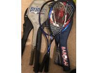 Selection of tennis/squash/badminton rackets