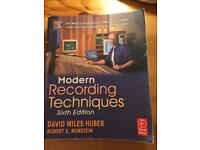 Modern Recording Techniques book in perfect condition