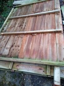 Overlap timber fence panel 1.8x1.8m