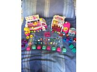 Shopkins ice cream van and bakery bundle, includes over 40 shopkins and accessories