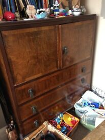 Large cupboard / sideboard with 3 drawers abd double doors for top cupboard