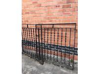 4FT heavy wrought iron driveway gates