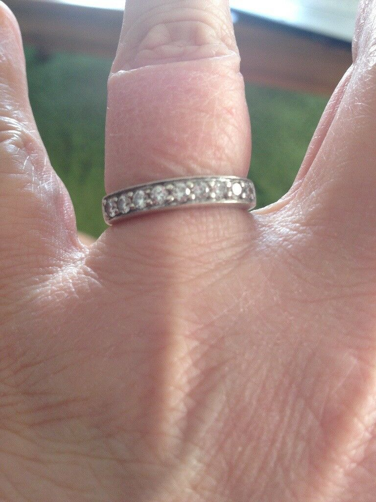 Ladies white gold nine diamond engagement ring | in New Town ...