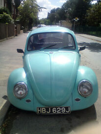 1971 Classic VW Beetle for Sale. Full MOT. Very Good Condition. High-end alloy wheels.