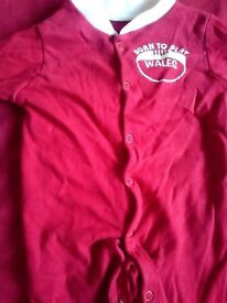 Welsh Rugby Baby Grow 3-6M