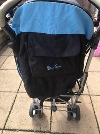 Silver cross blue buggy