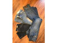 Job lot men's 28 waist jeans superdry diesel great condition
