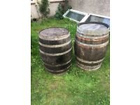 Old Wine barrels great soild oak
