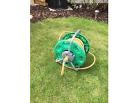 Hose lock Hose reel and hose - with fittings