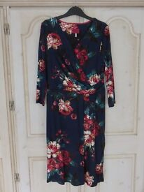 Joules size 14 dress. As new. Navy floral print.