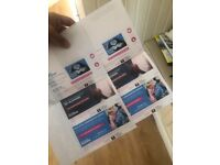 EMINEM STANDING TICKETS x6 FACE VALUE, OFFICIAL PAPER TICKETS NOT Eticket or download