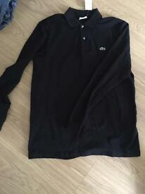 Long sleeved Lacoste polo