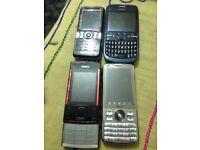 4 mobile phones good working order