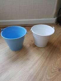 Decorative metal buckets