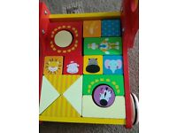 Lovely colourful toy wooden baby push walker