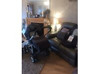 SILVER CROSS 3D Pram/ Pushchair - Car Seat - Grey - Complete with Accessories - RRP £450