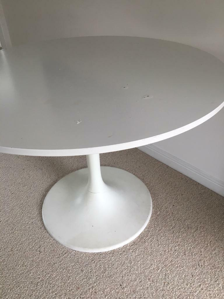 Free Dining Table Ikea Docksta White Round In Chapel Allerton West Yorkshire Gumtree