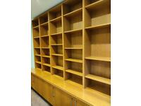 Solid wood shelves and cabinets