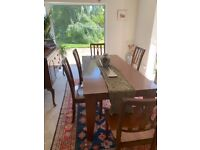 Hardwood Dining Table & Chairs