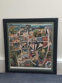 Framed print - Rob Hain, 'Welcome to Edinburgh, you'll have had your tea'